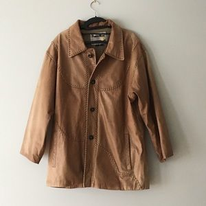 Leather Western Frontier Jacket.